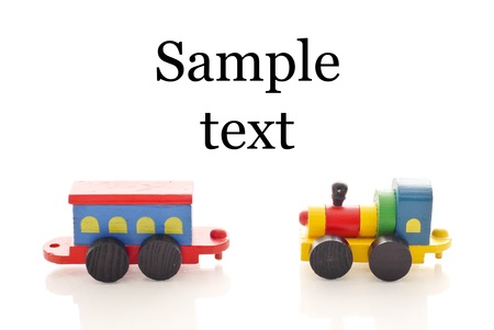 Toy Trains and Space for Sample Text photo