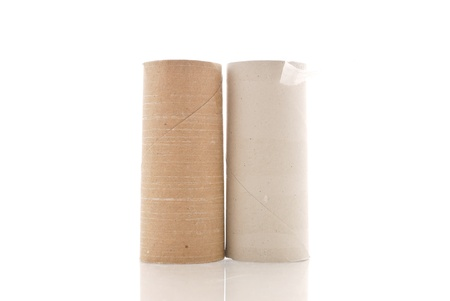 Two Empty Rolls of Toilet Paper Stock Photo - 14458546