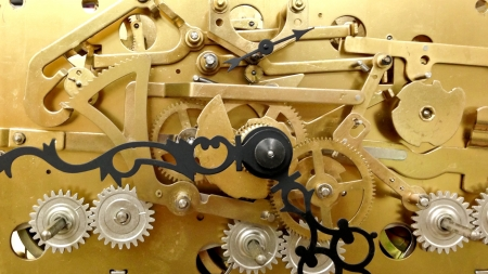 Clock Work Stock Photo
