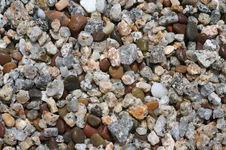 A bunch of beach pebbles to be used as a background Stock Photo