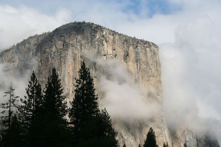 el capitan: El Capitan in the sunshine at Yosemite National Park  Stock Photo