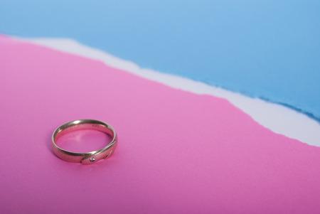 結婚の分離 写真素材