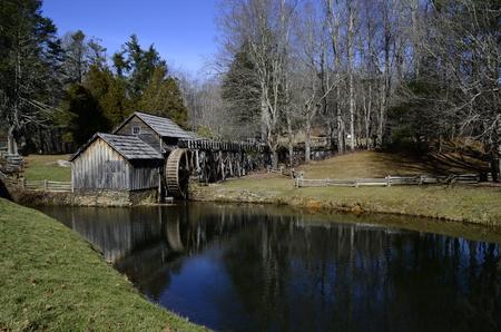 waterwheel: Mabrys Mill on Blue Ridge Parkway in Virginia