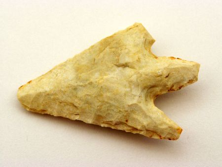 flint: Prehistoric point arrow, cut flint