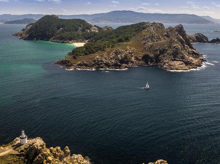 Cies諸島、大西洋諸島の海洋地上国立公園、ガリシア(スペイン) 写真素材