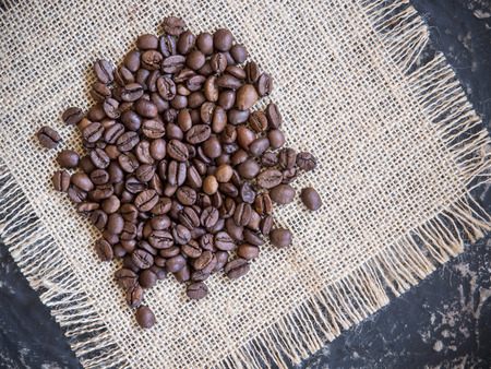 coffee beans background top view