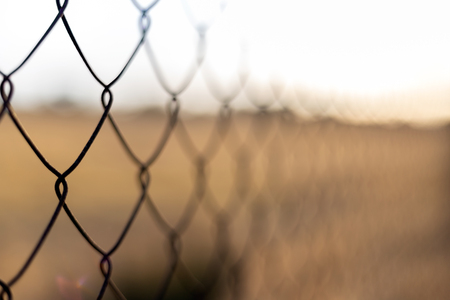 a fence in the field, abstract background