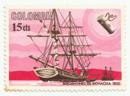 SPAIN - CIRCA 1850: stamp printed by Spain, shows Gerantines de riohacha 1850