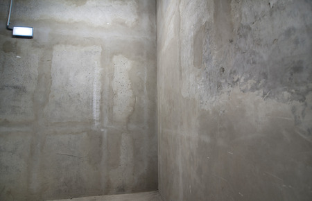 Raw concrete walls the image is suitable for background use corner view.