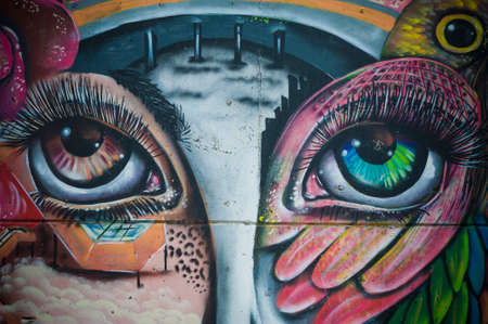 Graffiti is an urban artistic expression Stock Photo