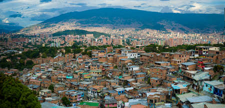 Overview of Medellín, Colombia, the second city of the country Stock Photo