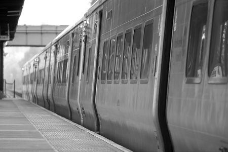 estacion de tren: La estaci�n de tren  Foto de archivo