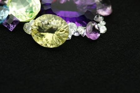 quarz: Gemstones with copy space Stock Photo