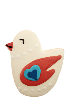 easter cookie: Easter cookie in the shape of a small chick