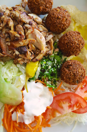 mediterranian: Mediterranian food with salad