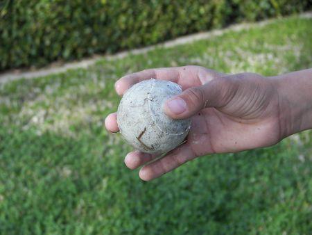 holding a ball Banco de Imagens