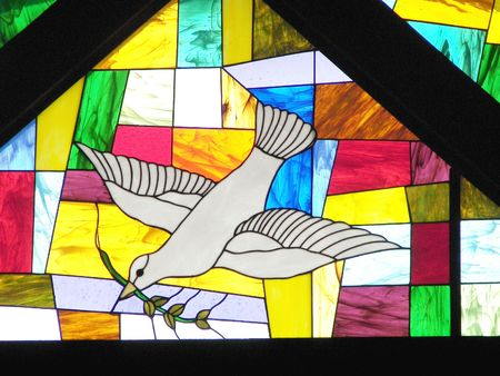 stained glass...dove
