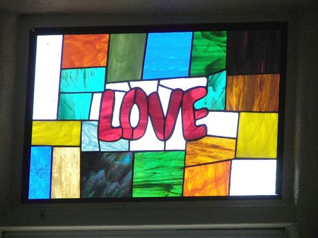 stained glass........love
