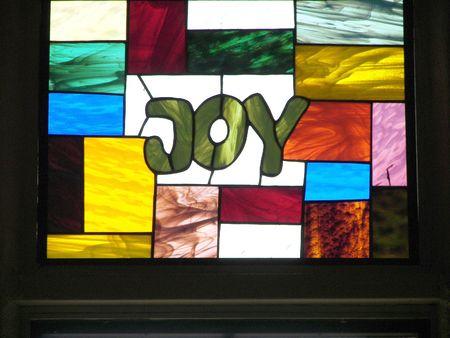 stained glass.....joy Standard-Bild