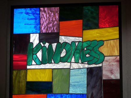 stained glass....kindness Standard-Bild