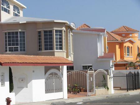 row of houses Standard-Bild