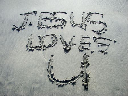 loves: Jesus Loves You Stock Photo
