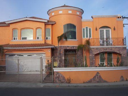 orange house Standard-Bild