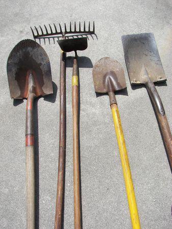 closeups: garden tools
