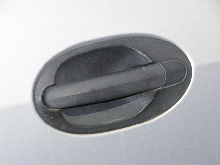 car door handle Standard-Bild