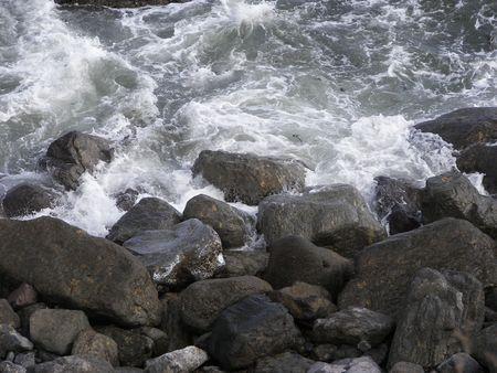 ocean crashing against the rocks