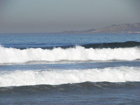 foamy: foamy waves Stock Photo