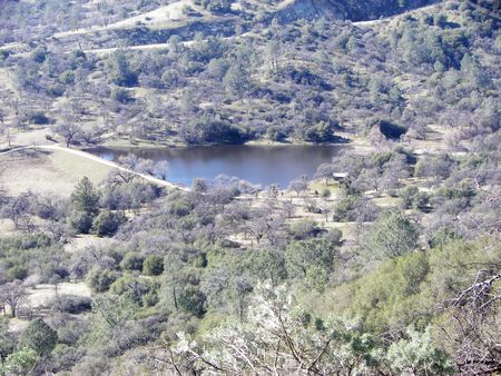 arial view: arial view of a lake Stock Photo