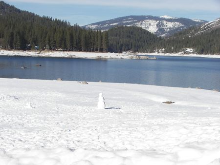 lake in the winter time photo