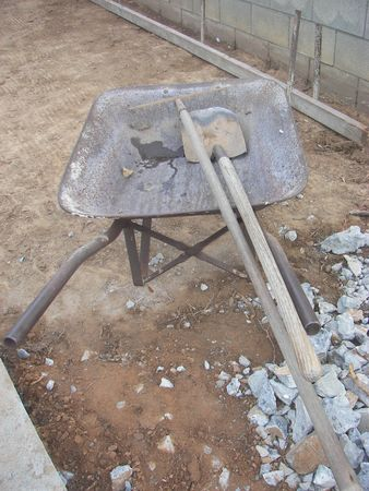 wheel barrel with tools