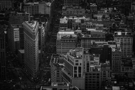 Flatiron district in black and white in New York City 写真素材