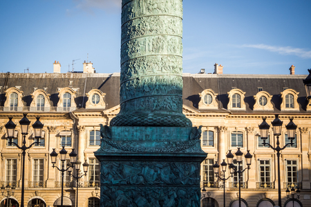 Column obelisk from Place Vendome in Paris Reklamní fotografie - 122809812