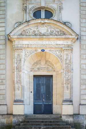 The entry of the Architecture building in Bordeaux