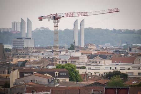 The Famous Chaban-Delmas lift bridge in Bordeaux, Aquitaine, France