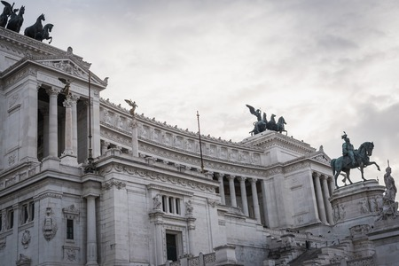 Monument to Victor Emmanuel II in the historic center of Rome Italy