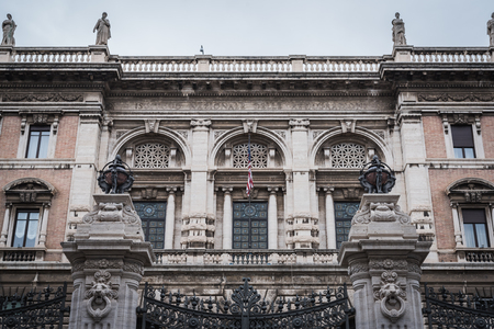Facade of the American Embassy in Rome Italy from the outside