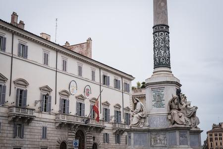 ROME, ITALY - NOVEMBER 15, 2017: Square of the Spanish Embassy in Rome Italy Editöryel