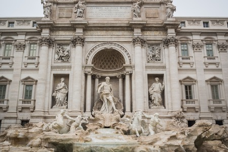 The splendid Trevi fountain in Rome Italy