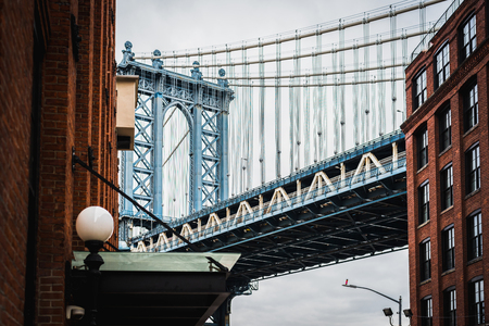 Fine Art Photography of Manhattan bridge in Dumbo Brooklyn NYC - Landscape 写真素材