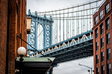 Fine Art Photography of Manhattan bridge in Dumbo Brooklyn NYC - Cityscape
