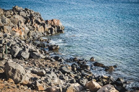 Rocky waters in Playa Blanca on the island of Lanzarote