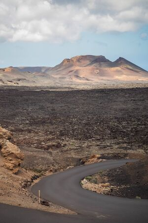 Path between volcanoes on the island of Lanzarote