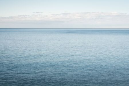 Summer Blue Horizon in the island of Madeira 스톡 콘텐츠