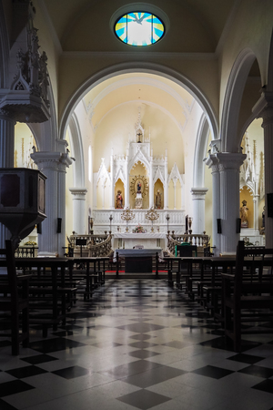 Interior of the church of Teguise on the island of Lanzarote