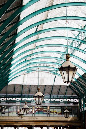 The ceiling of Jubilee Market in Covent Garden in London