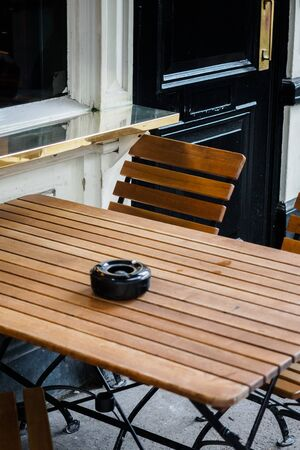 Modern smoking area in the city of London